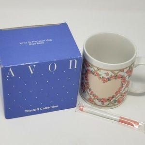 Avon Coffee Cup Write To The Heart Mug Rose Trelli